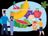Ягоды, фрукты, овощи – основа летнего рациона